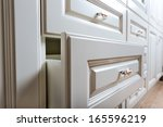 Stock photo beautiful cabinet with drawers in a modern room 165596219