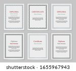 decorative frames and borders.... | Shutterstock .eps vector #1655967943