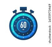 the 60 minutes  stopwatch...   Shutterstock .eps vector #1655973469
