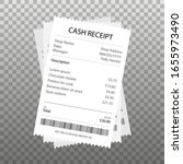 receipt icon in a flat style... | Shutterstock .eps vector #1655973490