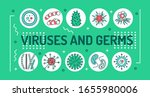 viruses and germs word... | Shutterstock .eps vector #1655980006