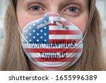 woman is wearing respirator... | Shutterstock . vector #1655996389