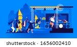 people dancing in front of...   Shutterstock .eps vector #1656002410