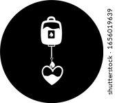blood in black circle icon....