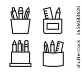 stationery icon set. vector...