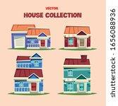 family house  village cottage.... | Shutterstock .eps vector #1656088936