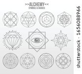 mystical geometry symbols set....   Shutterstock .eps vector #1656088966