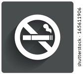no smoking sign. no smoke icon. ... | Shutterstock .eps vector #165611906