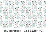 modern spring flower  with leaf ... | Shutterstock .eps vector #1656125440