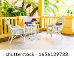 empty patio chair and table... | Shutterstock . vector #1656129733