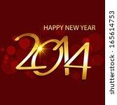 vector golden creative happy... | Shutterstock .eps vector #165614753