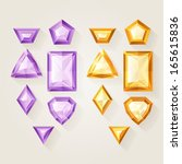 set of realistic jewels  ... | Shutterstock .eps vector #165615836