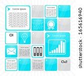 template glass infographic... | Shutterstock .eps vector #165616940