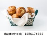 Close Up Of A Basket Of Freshly ...