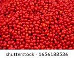 Bright Red Fresh Ripe Juicy...