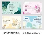 natural card template vector...