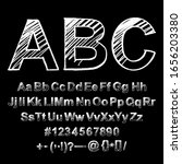 hand drawn typeface. painted... | Shutterstock .eps vector #1656203380