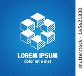 trendy geometric logo template... | Shutterstock .eps vector #165621830