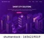 smart city solutions isometric... | Shutterstock .eps vector #1656219019