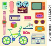 80s Retro lifestyle objects / 80s Retro objects
