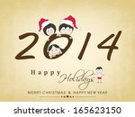 happy new year 2014 celebration ... | Shutterstock .eps vector #165623150