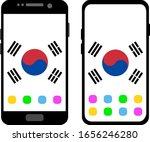two black smartphones with a... | Shutterstock .eps vector #1656246280