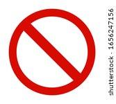 stop sign on white background. | Shutterstock .eps vector #1656247156