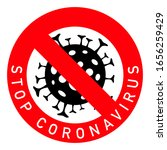 sign caution coronavirus. stop... | Shutterstock .eps vector #1656259429