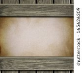 vintage frame with canvas... | Shutterstock . vector #165626309