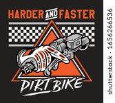 harder and faster dirt bike...   Shutterstock .eps vector #1656266536