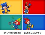 four background template... | Shutterstock .eps vector #1656266959