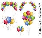 colored balloons vector design...   Shutterstock .eps vector #1656267709