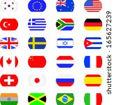 flags icon set  | Shutterstock .eps vector #165627239