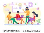 business team discussing ideas... | Shutterstock .eps vector #1656289669