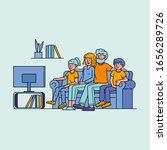 happy family watching... | Shutterstock .eps vector #1656289726