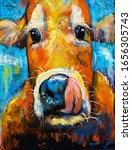 Pastel Portrait Of A Cow ...