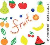 vector set  funny primitive... | Shutterstock .eps vector #1656321676