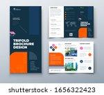 tri fold brochure design with... | Shutterstock .eps vector #1656322423