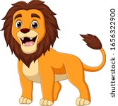 cartoon happy lion isolated on... | Shutterstock .eps vector #1656322900