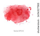 red watercolor background.... | Shutterstock .eps vector #1656327583