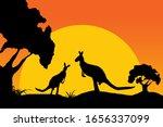 Silhouette Of Kangaroo ...