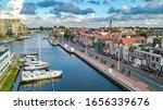 Aerial Drone View Of Alkmaar...
