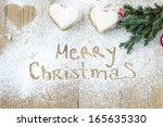 merry christmas background | Shutterstock . vector #165635330
