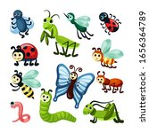 insects. fly bugs nature... | Shutterstock .eps vector #1656364789