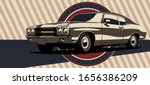 classic muscle car in vector.... | Shutterstock .eps vector #1656386209