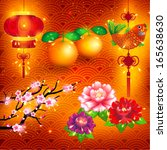 oriental happy chinese new year ... | Shutterstock .eps vector #165638630