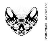 occult cat. occult cat's head....   Shutterstock .eps vector #1656404470