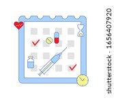 schedule of treatment... | Shutterstock . vector #1656407920