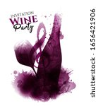 wine bottle illustration  wine... | Shutterstock .eps vector #1656421906