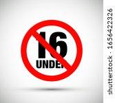 shiny no under sixteen entry...   Shutterstock .eps vector #1656422326